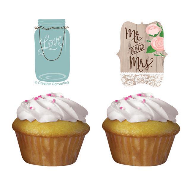 Muffin Deko Hochzeit Im Landhaus 12 Tlg Gunstig Kaufen Bei