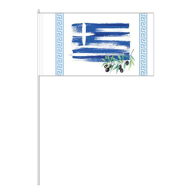 """Papier-Fahnen """"Griechenland"""" 10er Pack Günstig Kaufen Bei"""