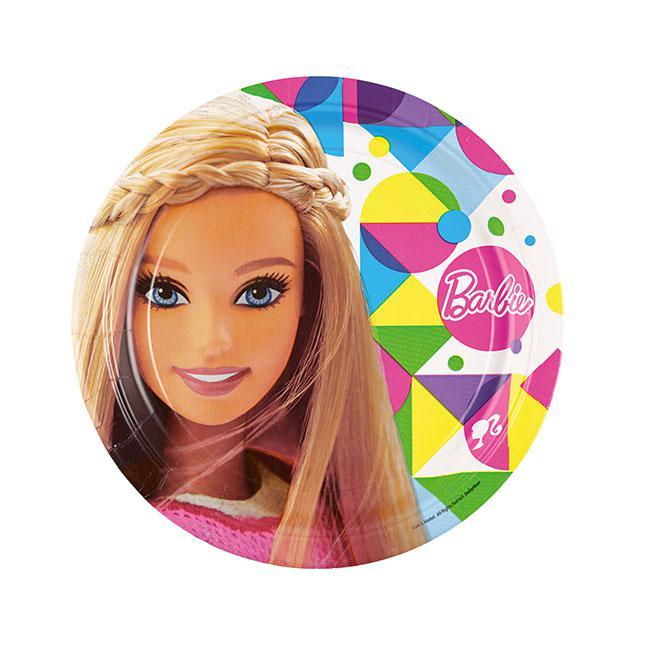 Pappteller bunte barbie welt 8er pack g nstig kaufen bei for Bunte pappteller