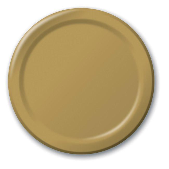 Pappteller 24er pack gold g nstig kaufen bei for Pappteller gold