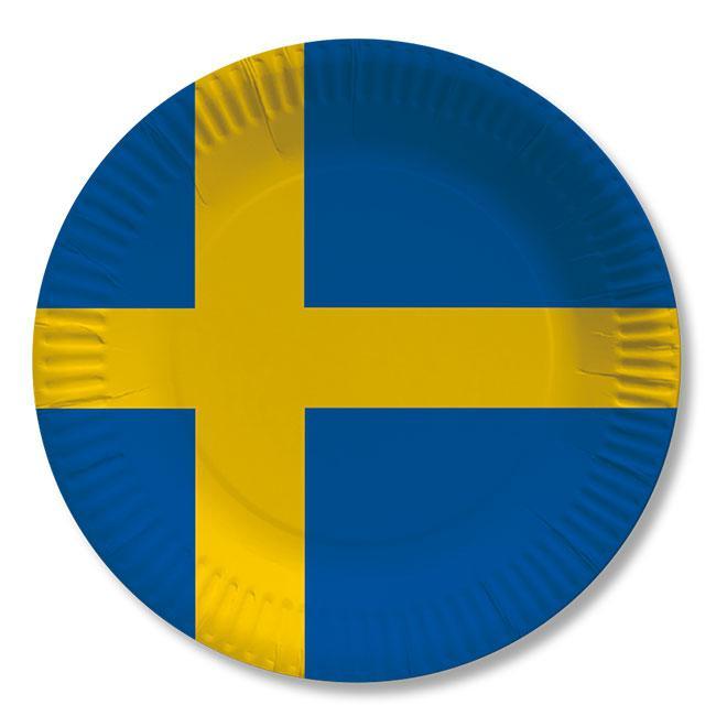 pappteller schweden 10er pack g nstig kaufen bei. Black Bedroom Furniture Sets. Home Design Ideas
