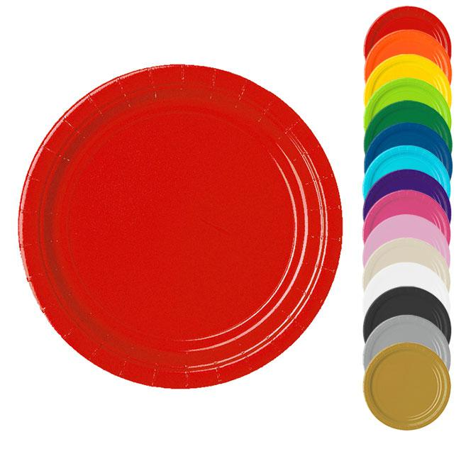 Einfarbige pappteller 23 cm 8er pack g nstig kaufen bei for Bunte pappteller