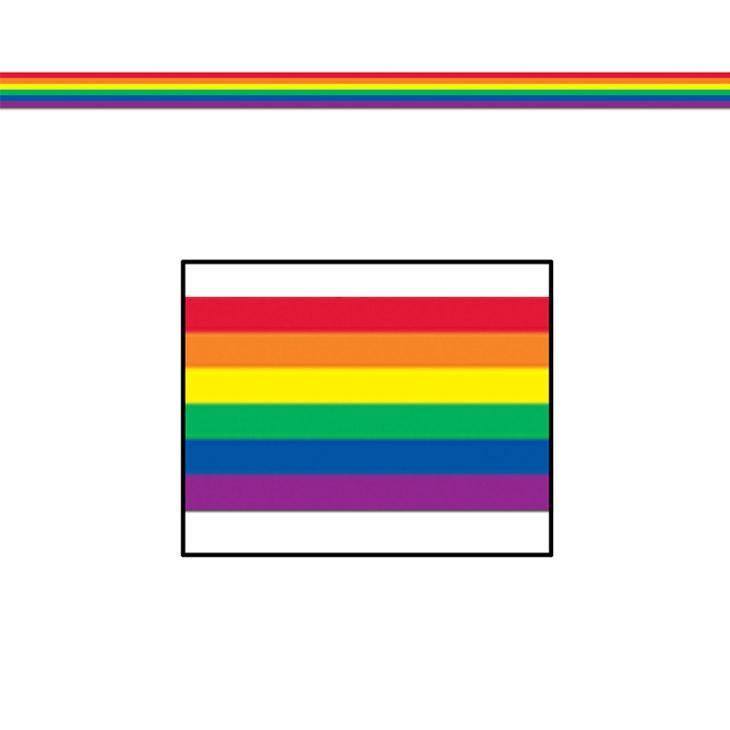 Party Absperrband Regenbogen 8 Cm X 15 25 M Gunstig Kaufen Bei