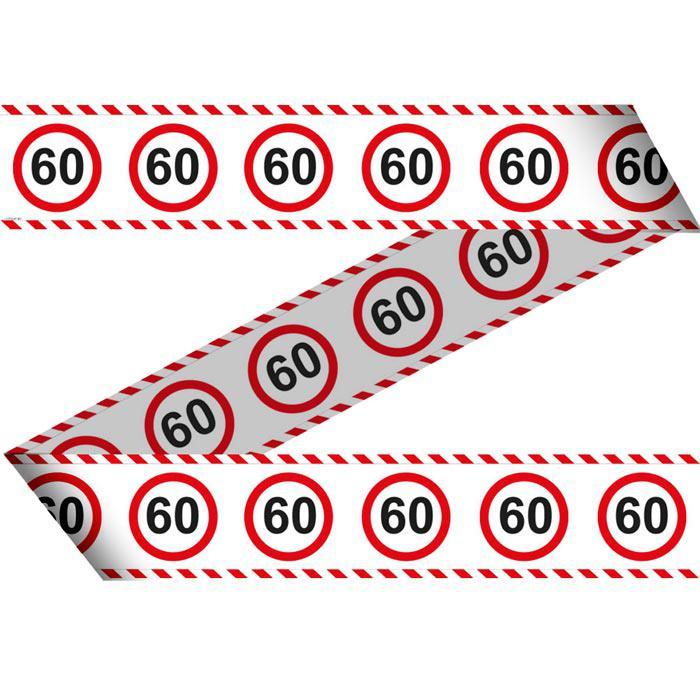 Party Absperrband Verkehrsschild 60 Geburtstag 15 M Gunstig