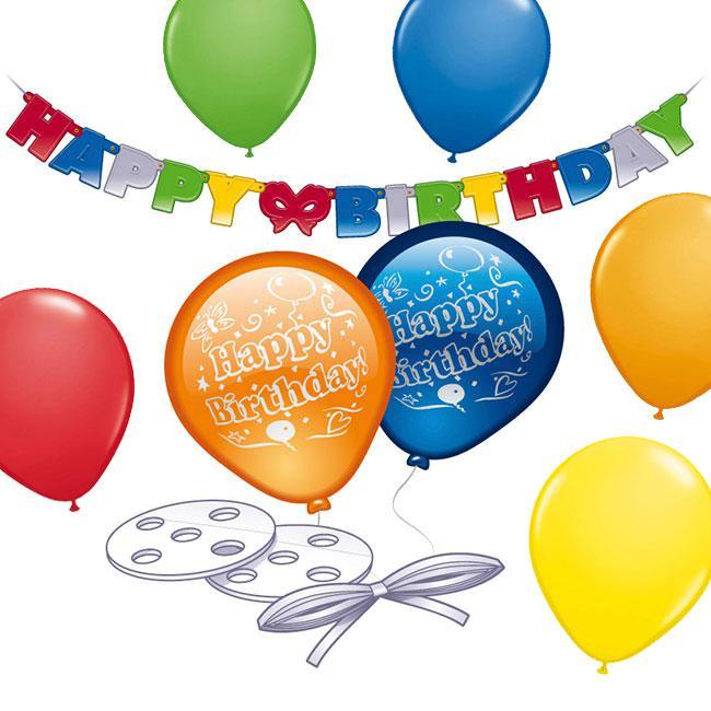 partydeko set luftballons und girlande 21 tlg g nstig kaufen bei. Black Bedroom Furniture Sets. Home Design Ideas