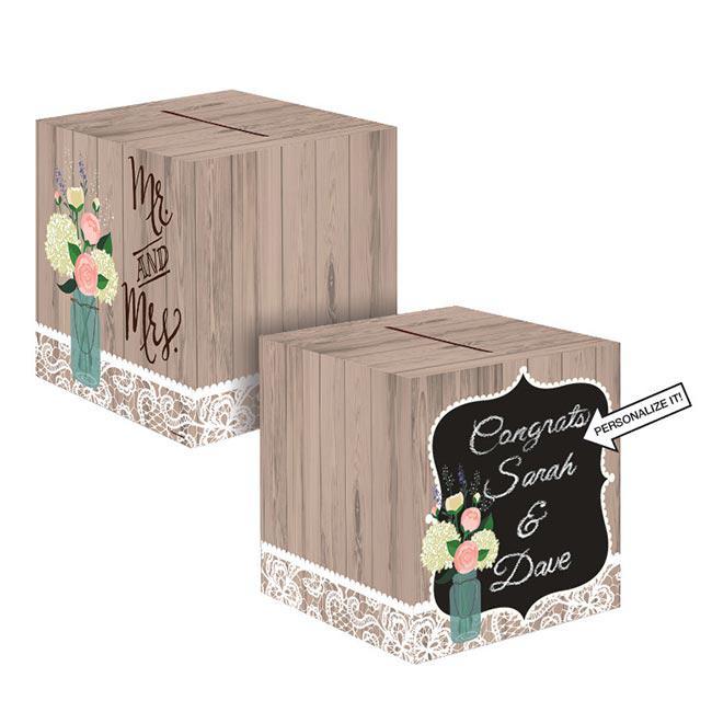 personalisierbare kartenbox hochzeit im landhaus 30 5 cm g nstig kaufen bei. Black Bedroom Furniture Sets. Home Design Ideas