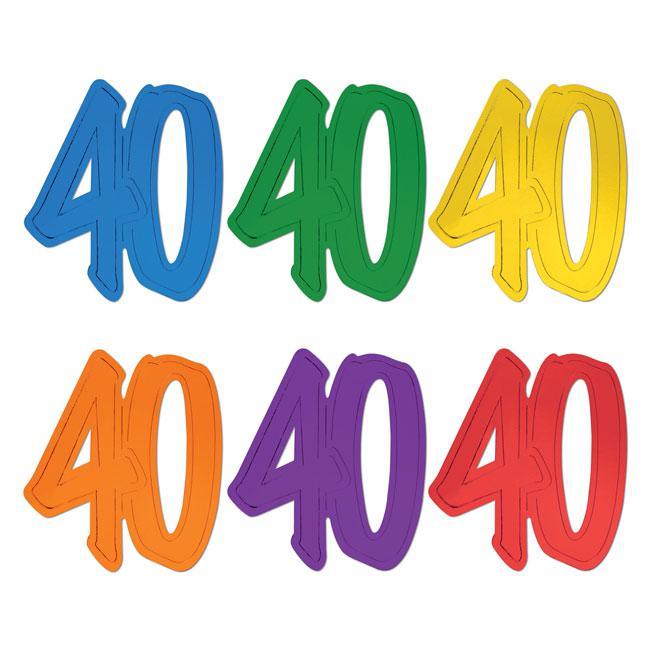 """Raumdeko Jubiläums-Zahl """"40"""" 29 cm günstig kaufen bei PartyDeko.de"""