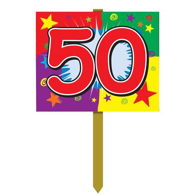 Raumdeko Schild 50 Geburtstag 61 Cm Günstig Kaufen Bei Partydekode