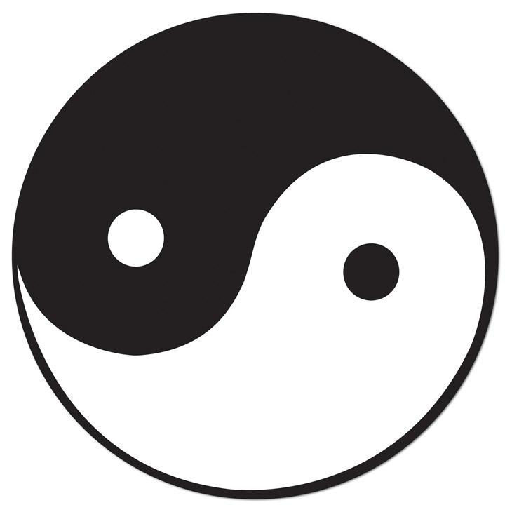 Raumdeko Yin & Yang Symbol 34,5 cm günstig kaufen bei PartyDeko.de