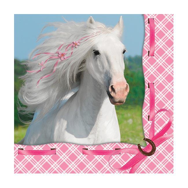 servietten rosa pferdetraum 16er pack g nstig kaufen bei. Black Bedroom Furniture Sets. Home Design Ideas