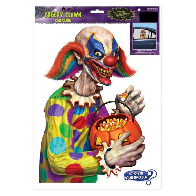 statisch haftende aufkleber b ser clown g nstig kaufen. Black Bedroom Furniture Sets. Home Design Ideas