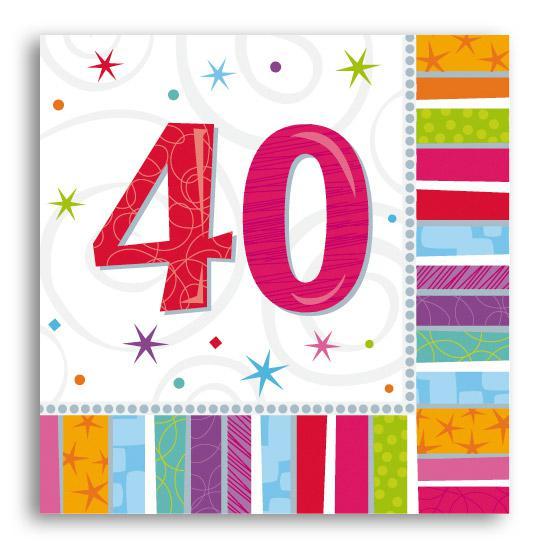 Servietten 40 Strahlender Geburtstag 16er Pack Gunstig Kaufen Bei
