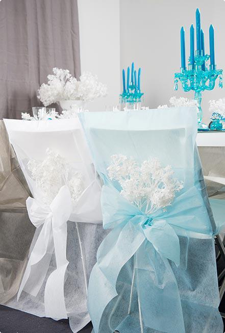 stuhlhusse mit schleife deko vlies 10er pack wei g nstig kaufen bei. Black Bedroom Furniture Sets. Home Design Ideas