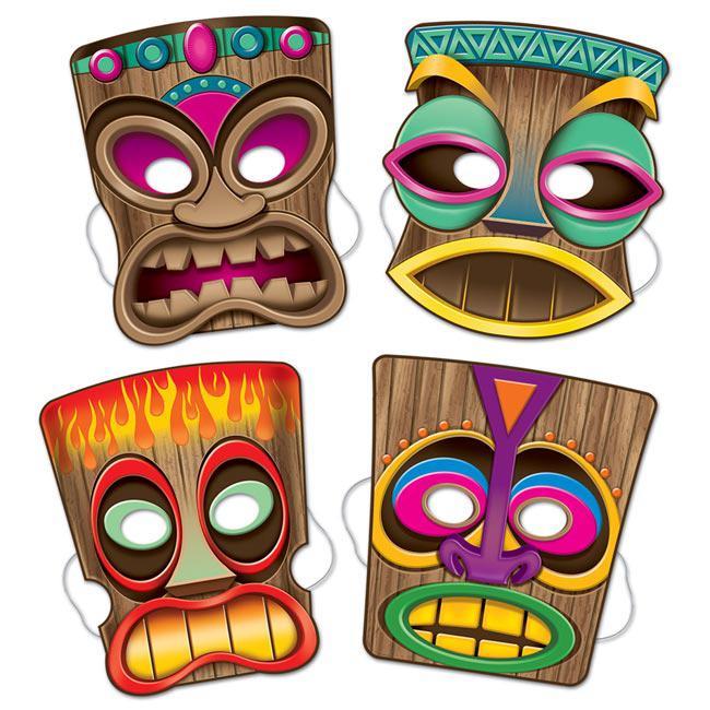 Tiki Masken 4 tlg Gnstig Kaufen Bei PartyDekode