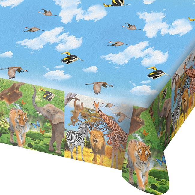 tischdecke wildes safarileben 130 x 180 cm g nstig kaufen bei. Black Bedroom Furniture Sets. Home Design Ideas