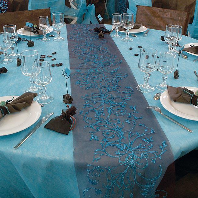 tischdecke deko vlies edle tafel 1 5 x 3 m t rkis g nstig kaufen bei. Black Bedroom Furniture Sets. Home Design Ideas