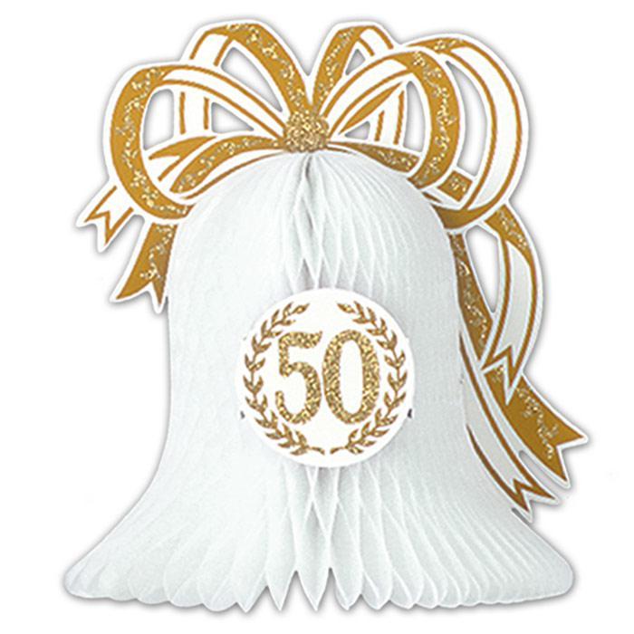 Tischdeko Glocke 50 Jubilaum 27 Cm Gunstig Kaufen Bei Partydeko De