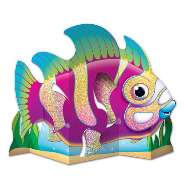 Tischdeko exotischer fisch mit glitzer 27 cm g nstig for Tischdeko fisch