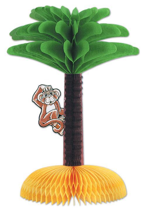 tischdeko palme mit affe 33 cm g nstig kaufen bei. Black Bedroom Furniture Sets. Home Design Ideas