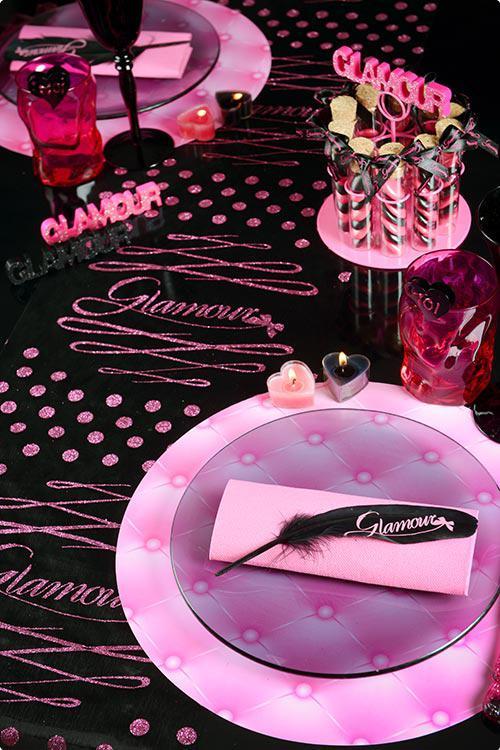 Tischdeko Federn Pink Glamour 6er Pack Gunstig Kaufen Bei Partydeko De