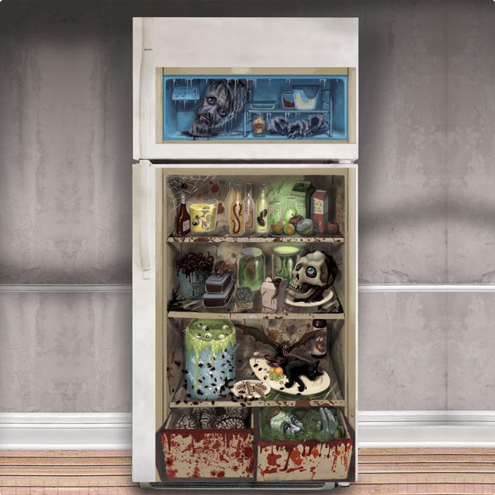 T rdeko f r k hlschrank zombie men 85 x 165 cm g nstig kaufen bei - Halloween turdeko ...