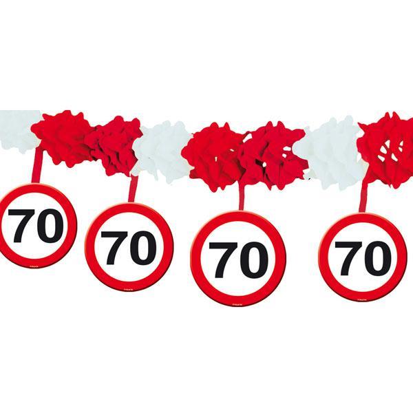 70 Ungewöhnlich Fotos Von Glühlampen Kaufen: Wabenpapier-Girlande Verkehrsschild 70. Geburtstag 4 M