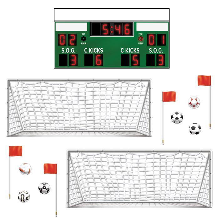 Wanddeko fu ballspiel 93 cm 13 tlg g nstig kaufen bei - Wanddeko fussball ...