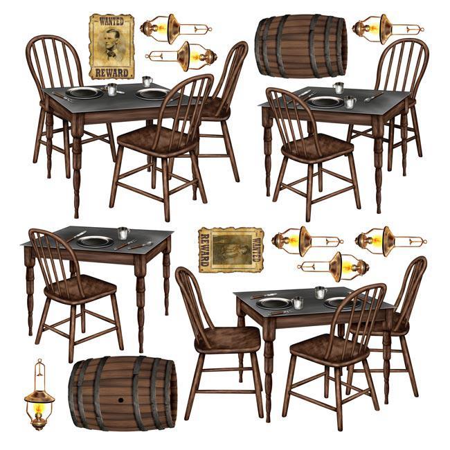 wanddeko saloon einrichtung 15 tlg g nstig kaufen bei. Black Bedroom Furniture Sets. Home Design Ideas