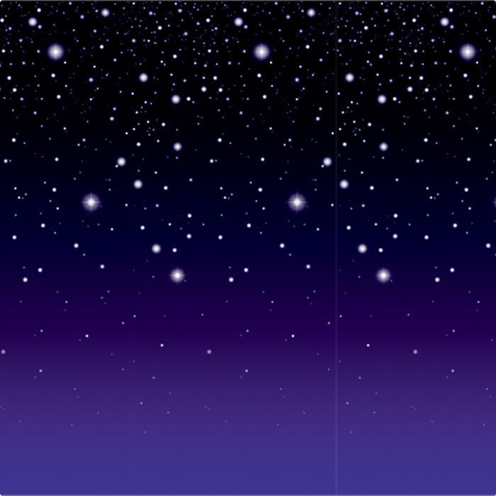Wanddeko Sternenklare Nacht 1,2 x 9,1 m günstig kaufen bei PartyDeko.de