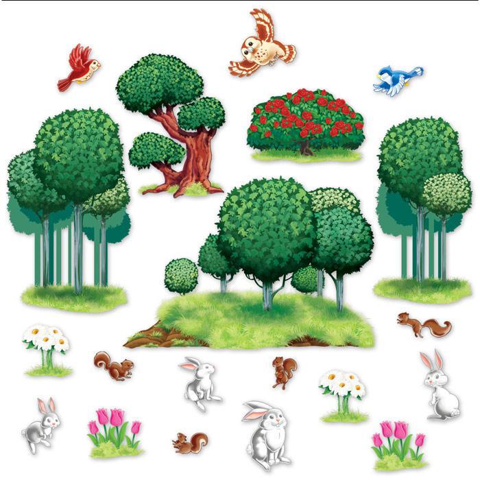 Wanddeko zauberhafte tier pflanzenwelt 20 tlg g nstig for Wanddeko pflanzen