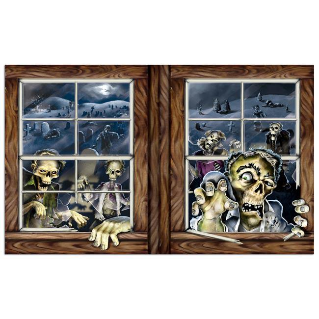 wanddeko zombies am fenster 157 cm g nstig kaufen bei. Black Bedroom Furniture Sets. Home Design Ideas