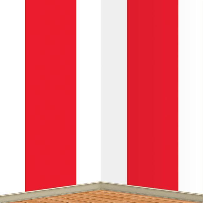 wanddeko rot und wei 122 x 914 cm g nstig kaufen bei. Black Bedroom Furniture Sets. Home Design Ideas