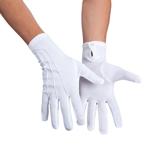 wei e handschuhe mit druckknopf g nstig kaufen bei. Black Bedroom Furniture Sets. Home Design Ideas