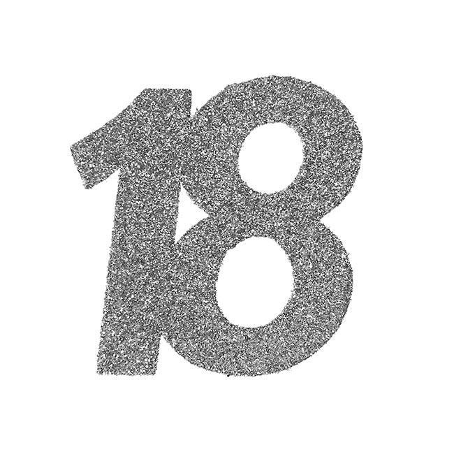 "XXL Glitzer Konfetti /""18 Geburtstag/"" 6er Pack"