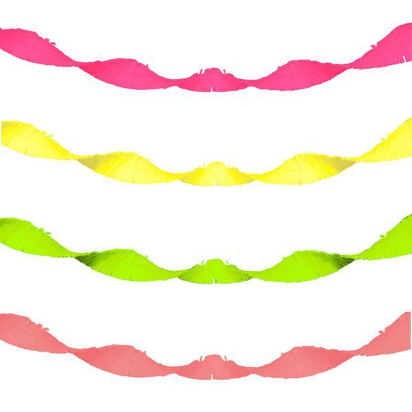 Krepppapier Basteln Girlanden : xxl uv leucht girlande aus krepp 18 m g nstig kaufen bei ~ Watch28wear.com Haus und Dekorationen