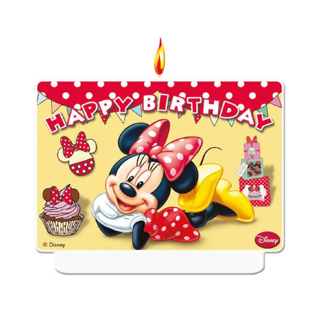 zahlenkerze minnie maus happy birthday 7 x 9 cm g nstig kaufen bei. Black Bedroom Furniture Sets. Home Design Ideas