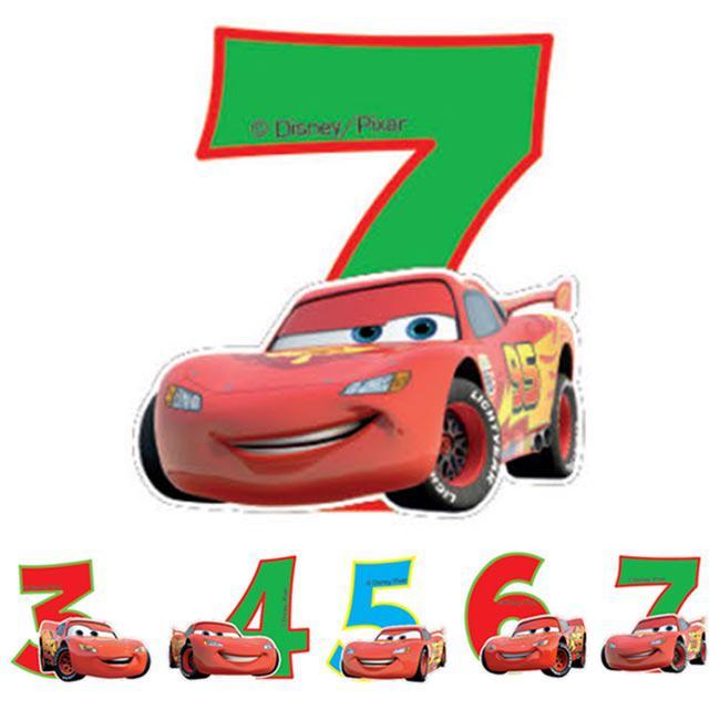 "Zahlenkerze ""Disney Cars"" 6 cm günstig kaufen bei PartyDeko.de"