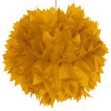 "Deckendeko ""Glamour Pom-Pom aus Wabenpapier"" 30 cm -gold"