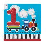 """Servietten """"Kunterbunte Eisenbahn 1. Geburtstag"""" 16er Pack"""