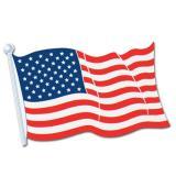 Papp-Flagge Amerika 43 x 31 cm