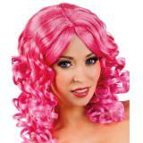 Perücke Lockenkopf Isabelle-pink