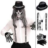 """Accessoire-Set """"Skelett"""" 5-tlg."""