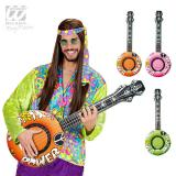 """Aufblasbare Gitarre """"Flower Power"""" 100 cm"""