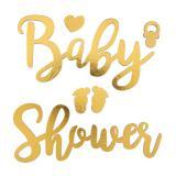 "Aufkleber aus Holz ""Baby Shower"" 6-tlg."