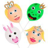 """Ballon-Köpfe zum Selbermachen """"Märchen und Fantasy"""" 18-tlg."""