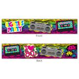 "Banner ""Eighties Party"" 13 x 70 cm"