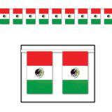 Flaggen-Girlande Mexiko 18,3 m
