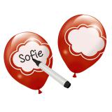 Personalisierbare Luftballons 6er Pack