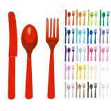 Einfarbiges Besteck-Set 24-tlg.