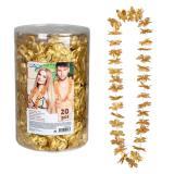 """Blumenketten """"Glamour"""" 20er Pack-gold"""